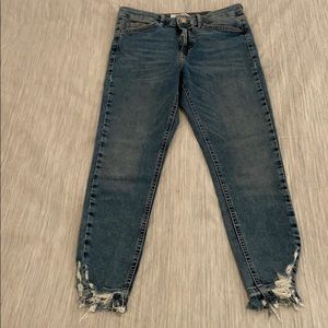 Topshop Cropped Jeans